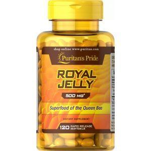 Маточное молочко, Royal Jelly, Puritan's Pride, 500 мг, 120 гелевых капсул