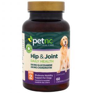 Здоровые суставы, для собак, уровень 2, Hip & Joint, Pet Natural Care, 60 жевательныт таблеток