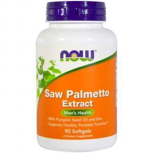 Со Пальметто, Saw Palmetto, Now Foods, мужское здоровье, экстракт, 90 ка