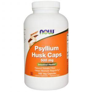 Подорожник (Psyllium Husk), Now Foods, 500 мг, 500 капсу