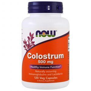 Колострум, Colostrum, Now Foods, 500 мг, 120 ка