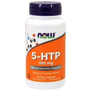 5-HTP, 5-гидрокситриптофан, Now Foods, 100 мг, 60