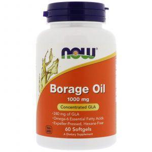 Масло огуречника (Borage Oil), Now Foods, 60 капс