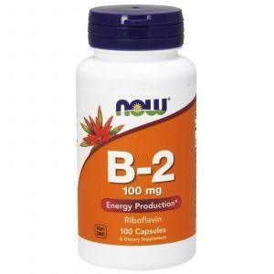 Рибофлавин, B-2, Now Foods, 100 мг, 100 кап