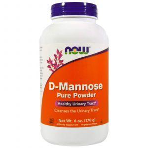 Д-Манноза, D-Mannose, Now Foods, порошок, 170