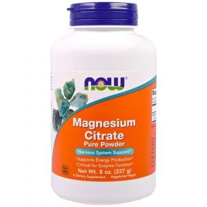 Цитрат магния, Magnesium Citrate, Now Foods, 100% чистый порошок, 227
