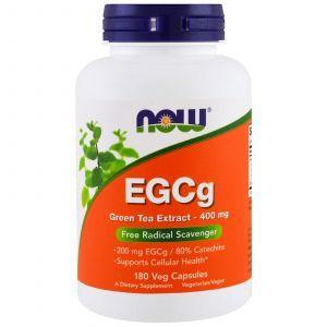 Зеленый чай EGCg (Green Tea), Now Foods, экстракт, 400 мг, 180 кап