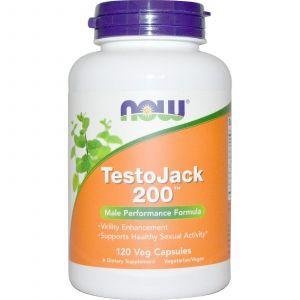 Репродуктивное здоровье мужчин, TestoJack 200, Now Foods, 120 ка