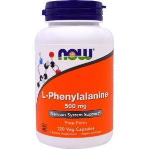 Фенилаланин, L-Phenylalanine, Now Foods, 500 мг, 120 кап