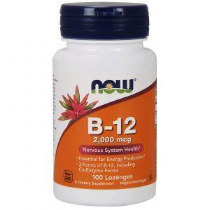 Витамин В12, B-12, Now Foods, 2000 мкг, 100 леденцо