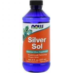Гидрозоль серебра (коллоидное серебро), Silver Sol, Now Foods, 237 м