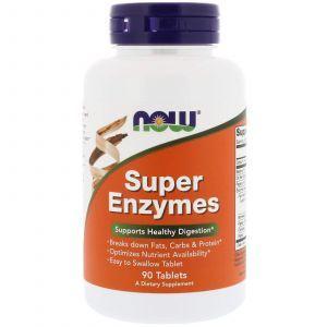 Энзимы, Super Enzymes, Now Foods, 90 таблет