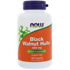 Черный орех (Black Walnut), Now Foods, 500 мг, 100 капс
