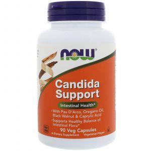 Противокандидное средство, Candida Support, Now Foods, 90 капс