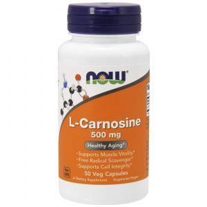 Карнозин, L-Carnosine, Now Foods, 500 мг, 50 капсу