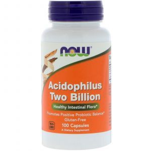 Пробиотики, Ацидофилин 2 млрд, Acidophilus, Now Foods, 100 кап
