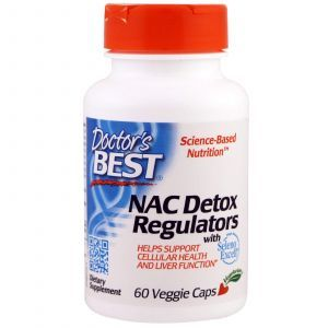 Ацетилцистеин, NAC Detox Regulators, Doctor's Best, 60 капсу