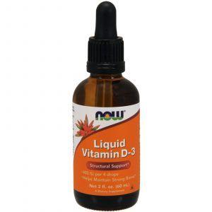 Витамин Д3, Liquid Vitamin D-3, Now Foods, 400 МЕ, 60 мл