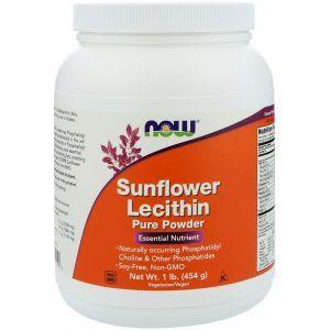 Подсолнечный лецитин, Sunflower Lecithin, Now Foods, 454