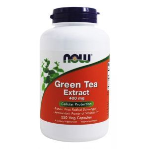 Зеленый чай экстракт (Green Tea), Now Foods, 400 мг, 250 ка