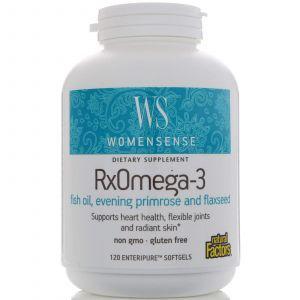 Омега 3, формула для женщин, RxOmega-3, Natural Factors, 120 ка