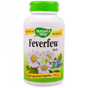Пиретрум девичий, Feverfews, Nature's Way, трава, 380 мг, 180 капс