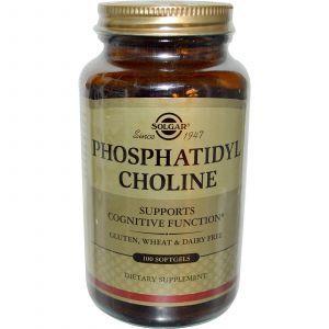 Фосфатидилхолин, Phosphatidyl Choline, Solgar, 100 кап