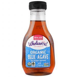 Светлый нектар голубой агавы, Blue Agave, Wholesome Sweeteners, Inc, органик, 333
