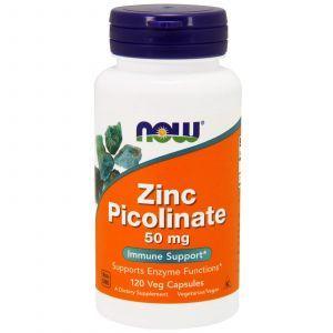 Пиколинат цинка, Zinc Picolinate, Now Foods, 50 мг 120 капс