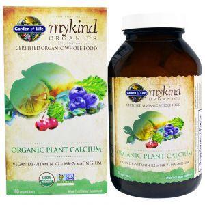 Кальций растительный, Plant Calcium, Garden of Life, органик, 180 табле