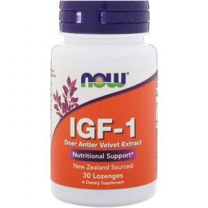 Инсулиноподобный фактор ИФР-1, IGF-1, Now Foods, 30 леденцо