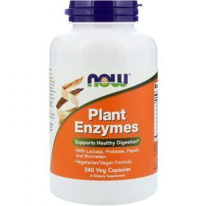 Энзимы (Plant Enzymes), Now Foods, ферменты, 240 кап
