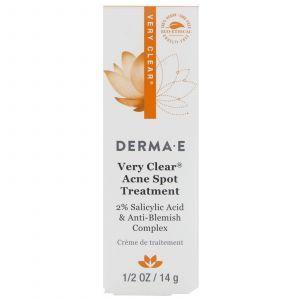 Крем от пятен и шрамов, Very Clear Spot Treatment, Derma E, (14
