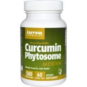 Куркумин, Curcumin Phytosome, Jarrow Formulas, 500 мг, 60 кап
