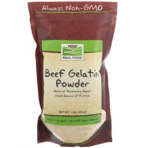 Гидролизат желатина, Beef Gelatin, Now Foods, Real Food, 454