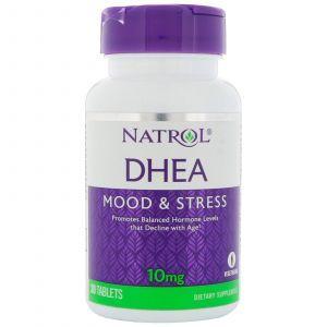 Дегидроэпиандростерон, DHEA, Natrol, 10 мг, 30 таблето