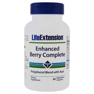 Асаи (смесь ягод), Enhanced Berry with Açaí, Life Extension, 60 капсул