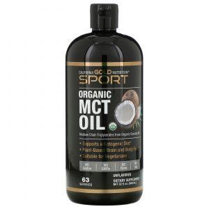 Масло МСТ, MCT Oil, California Gold Nutrition, органік, 946 мл