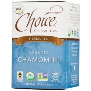 Органический травяной черный чай с ромашкой, Choice, 16 шт