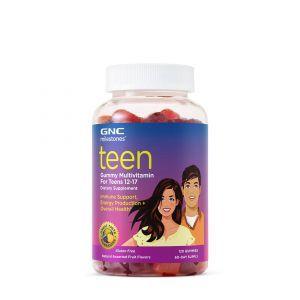 Мультивитамины для подростков 12-17 лет, Milestones Teen, GNC, фруктовый вкус, 120 жевательных конфет