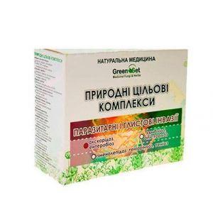 """Природний цільової комплекс """"Аскаридоз, ентеробіоз (гострики, аскариди)"""", GreenSet, рослинні препарати, 4 шт"""