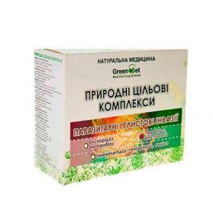 """Природний цільової комплекс """"Лямбліоз, опісторхоз"""" Курс 2, GreenSet, рослинні препарати, 4 шт"""