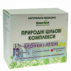 """Природний цільової комплекс """"Бронхоектатична хвороба"""", GreenSet, рослинні препарати, 4 шт"""