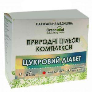 """Природний цільової комплекс """"Профілактика цукрового діабету для осіб з обтяженою спадковістю"""", GreenSet, рослинні препарати, 4 шт"""