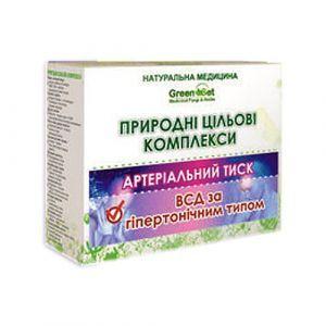 """Природний цільової комплекс """"Вегето-судинна дистонія за гіпертонічним типом"""", GreenSet, рослинні препарати, 4 шт"""