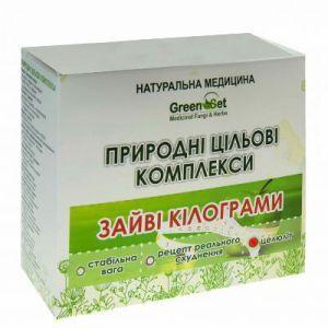 """Природний цільової комплекс """"Целюліт"""", GreenSet, рослинні препарати, 4 шт"""