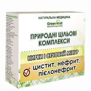 Пієлонефрит, GreenSet, природний цільової комплекс, рослинні препарати, 4 шт