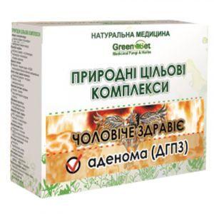 Аденома (доброякісна гіперплазія передміхурової залози), GreenSet, природний цільової комплекс, курс 1, рослинні препарати, 4 шт