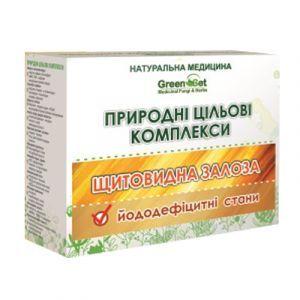Йододефіцитні стану: при наявності гормонозалежних пухлин, в тому числі мастопатії, GreenSet, природний цільової комплекс, рослинні препарати, 4 шт