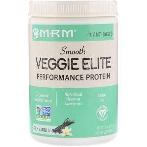 Растительный протеин, для веганов, Smooth Veggie Elite Performance Protein, Rich Vanilla, MRM, 170 г
